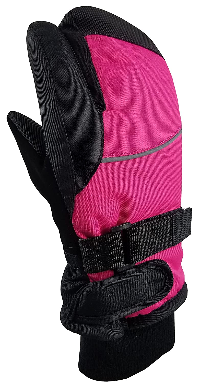 NIce Caps Kids Waterproof Trigger Finger Thinsulate Winter Mittens
