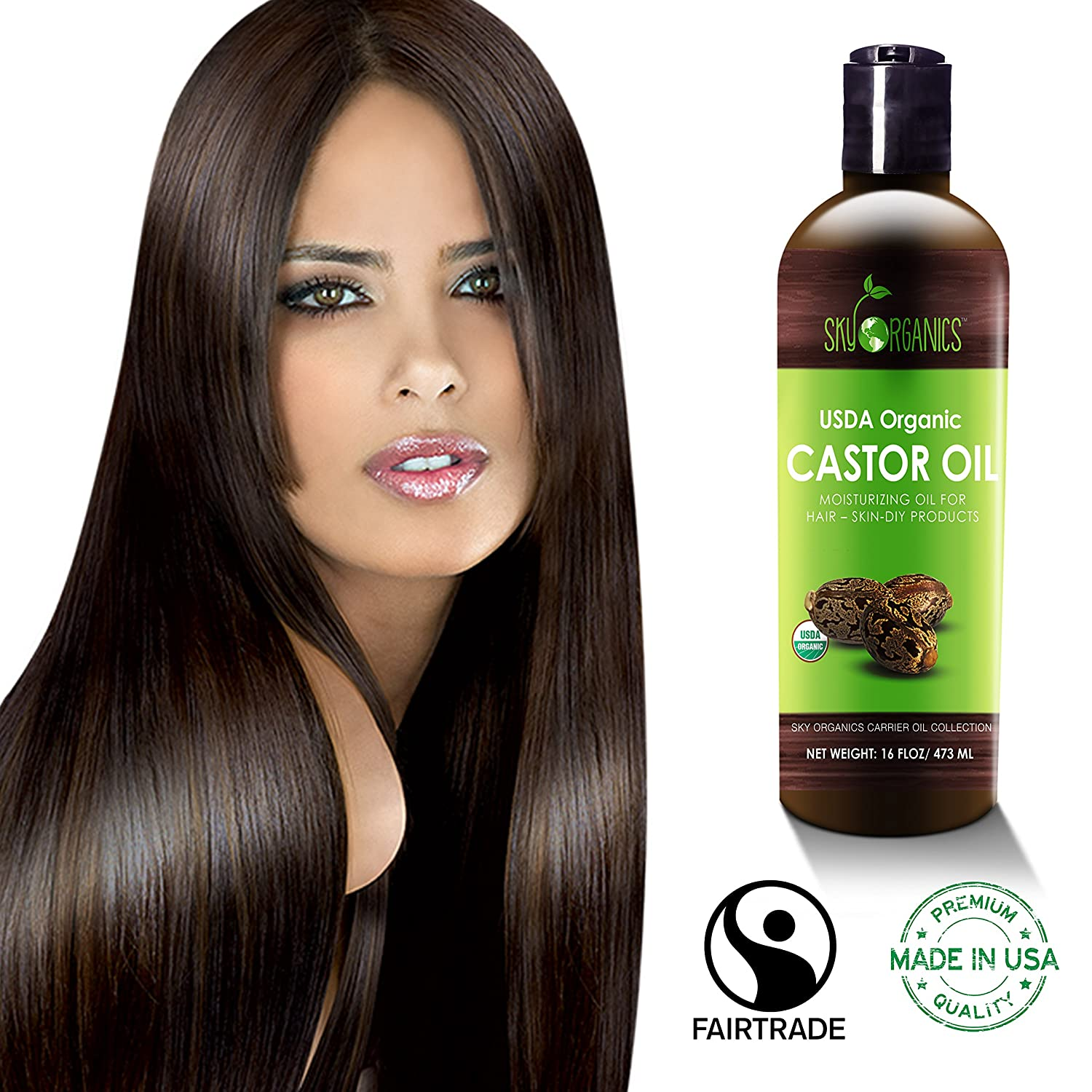 Natural Hair Oil Scalp With Black Castor Oil