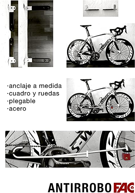 Antirrobo Bicicleta Pared: Amazon.es: Deportes y aire libre