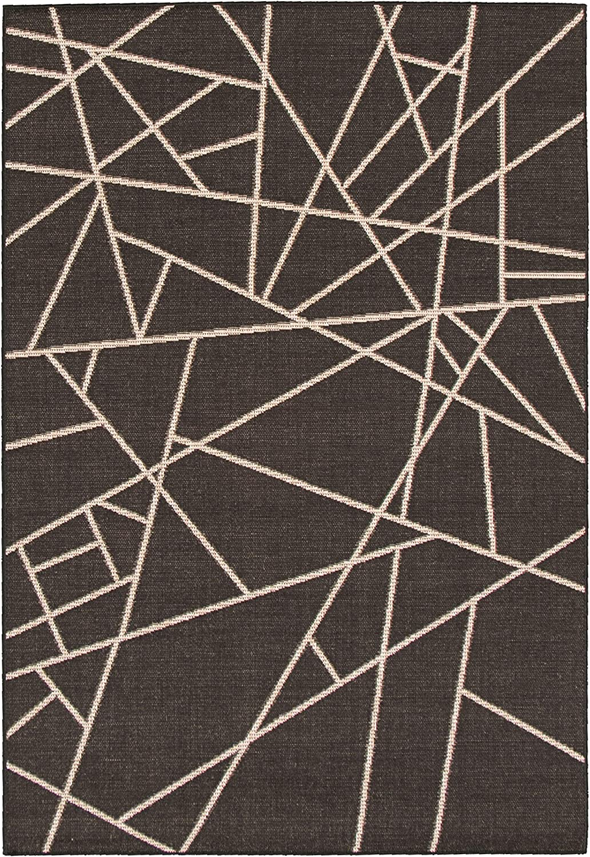 Amazon Com Ecarpetgallery Sisal Abstract Area Rugs 3 11 X 5 7 Black Silver Furniture Decor