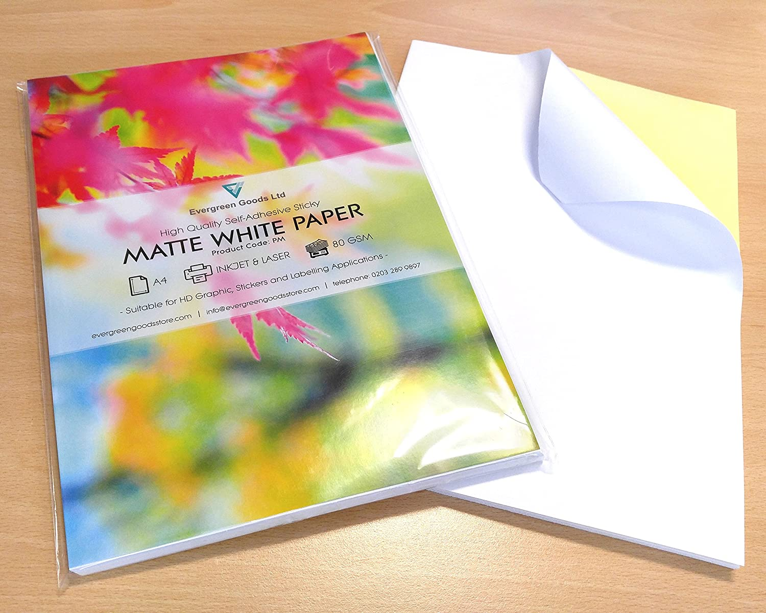 30 Sheets of Quality A4 White MATT Self Adhesive / Sticky Back Label Printing Paper Sheet Evergreen Goods