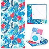 Microfiber Beach Towel for Travel - Quick Dry, Sand Free, Travel Beach Towel in Designer Paisley, Tropical & Boho Beach Towel Prints for Beach, Travel, Cruise, Outdoor, Gifts for Women 175 x 100cm (X-Large, Tropical Parrot)