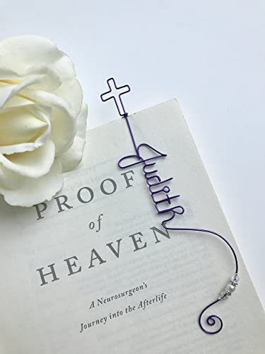 Amazon Com Personalized Cross Bookmark Wire Art Rh 2D Gifts