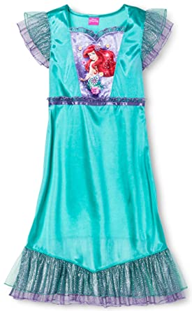 3b6cc4a704 Masked Brand Disney Girls  Little Mermaid Ariel Nightgown - Green ...