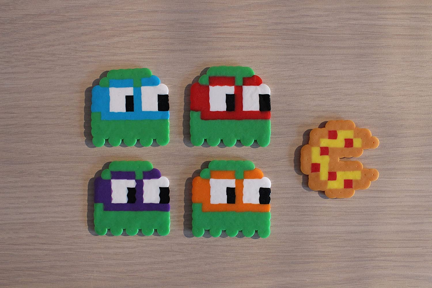 Ninja Turtles / Pac-Man Ghosts Pixel Art Bead Sprites from the Teenage Mutant Ninja Turtles Franchise