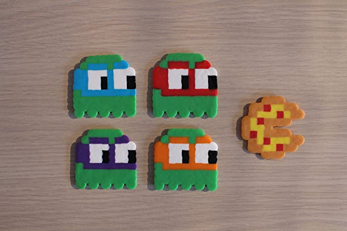 Ninja Turtles/Pac Man Ghosts Pixel Art Bead Sprites From The Teenage Mutant  Ninja