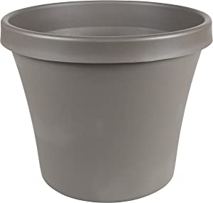 "Bloem Terra Pot Planter 10"" Peppercorn"