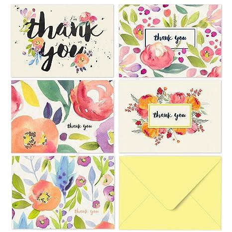 Amazon.com: 40tarjetas de agradecimiento con ...