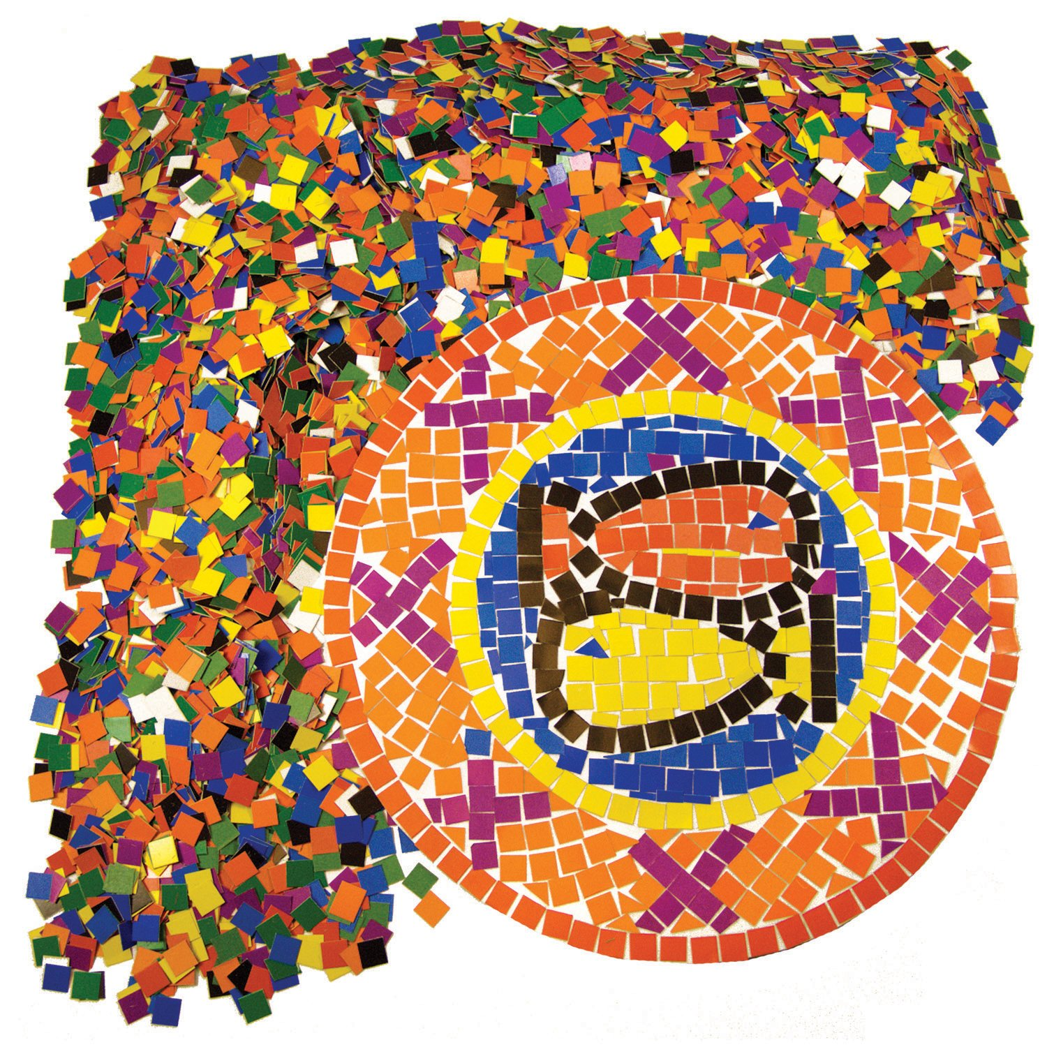 Pack Of 10000 Squares Roylco Double Color Mosaic Squares