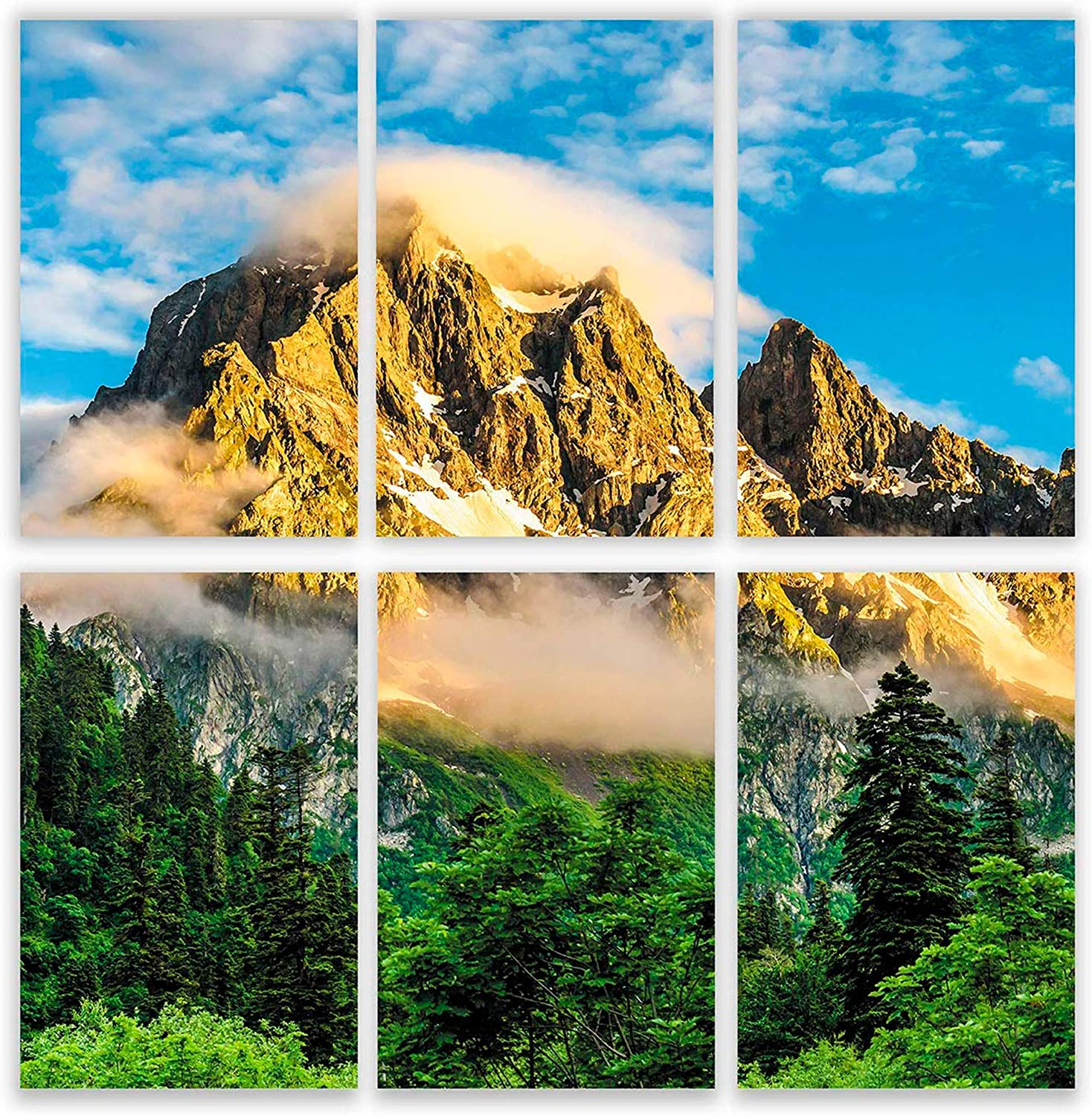 Mountain Wall Decor | Set of Six Beautiful 11x17 Landscape Posters | Nature Scene Pictures | Mountain Scenery Artwork Decorations for Home | Mountains Wall Art Poster