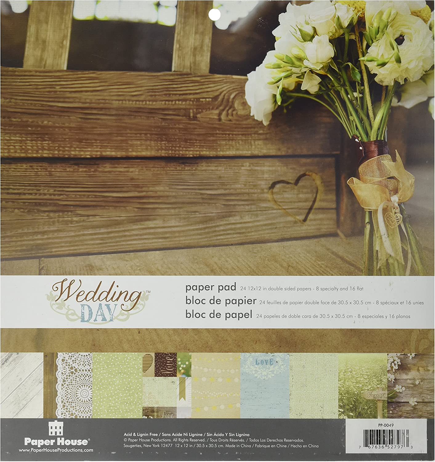 """/""""Wedding Day/"""" 12x12 Double-Sided Paper Reminisce"""