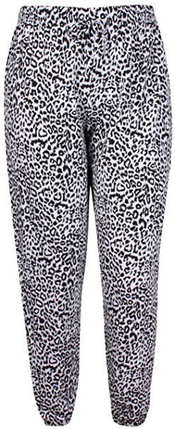 9995ac0de061 Womens Leopard Flower Printed Ladies Stretch Elasticated Drawstring Waist  Alibaba Harem Pants Baggy Trouser Plus Size: Amazon.co.uk: Clothing