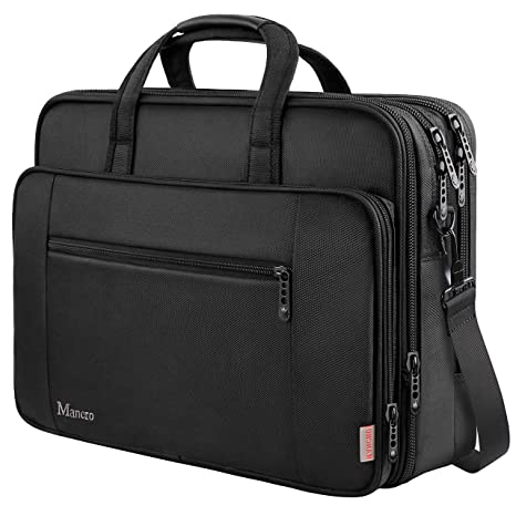f40043c45 17 inch Laptop Bag, Large Business Briefcase for Men Women, Travel Laptop  Case Shoulder