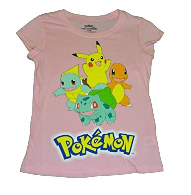 Amazon.com: Pokemon Rosa Niñas Camisa Pikachu Charmander ...