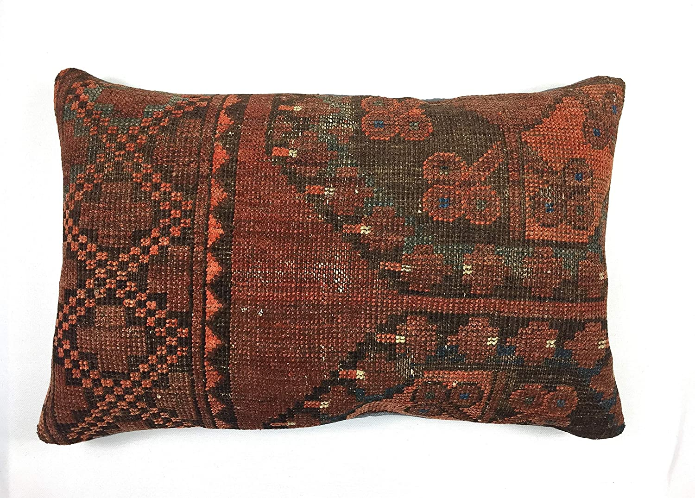 Housse de coussin 30x60 cm Fait /à la main kilim laine la Turque oreiller lombaire kelim taie doreiller 1741