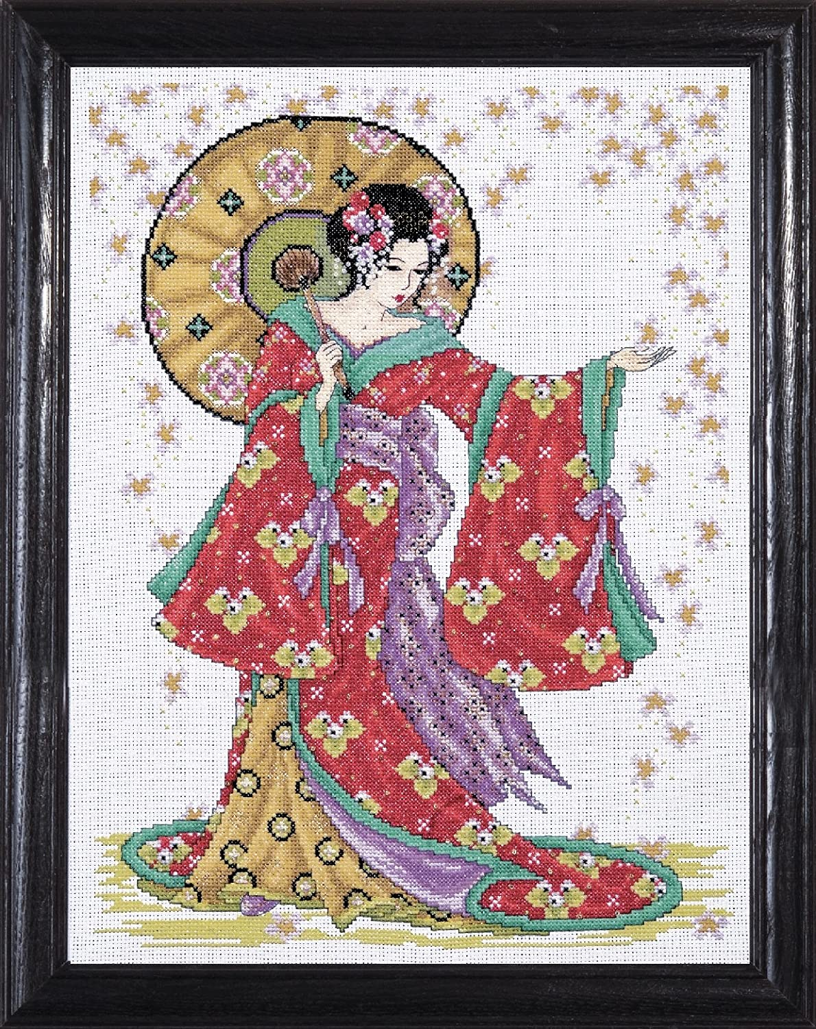 Design Works Red Geisha Cross Stitch Kit, Multi-Colour 2740