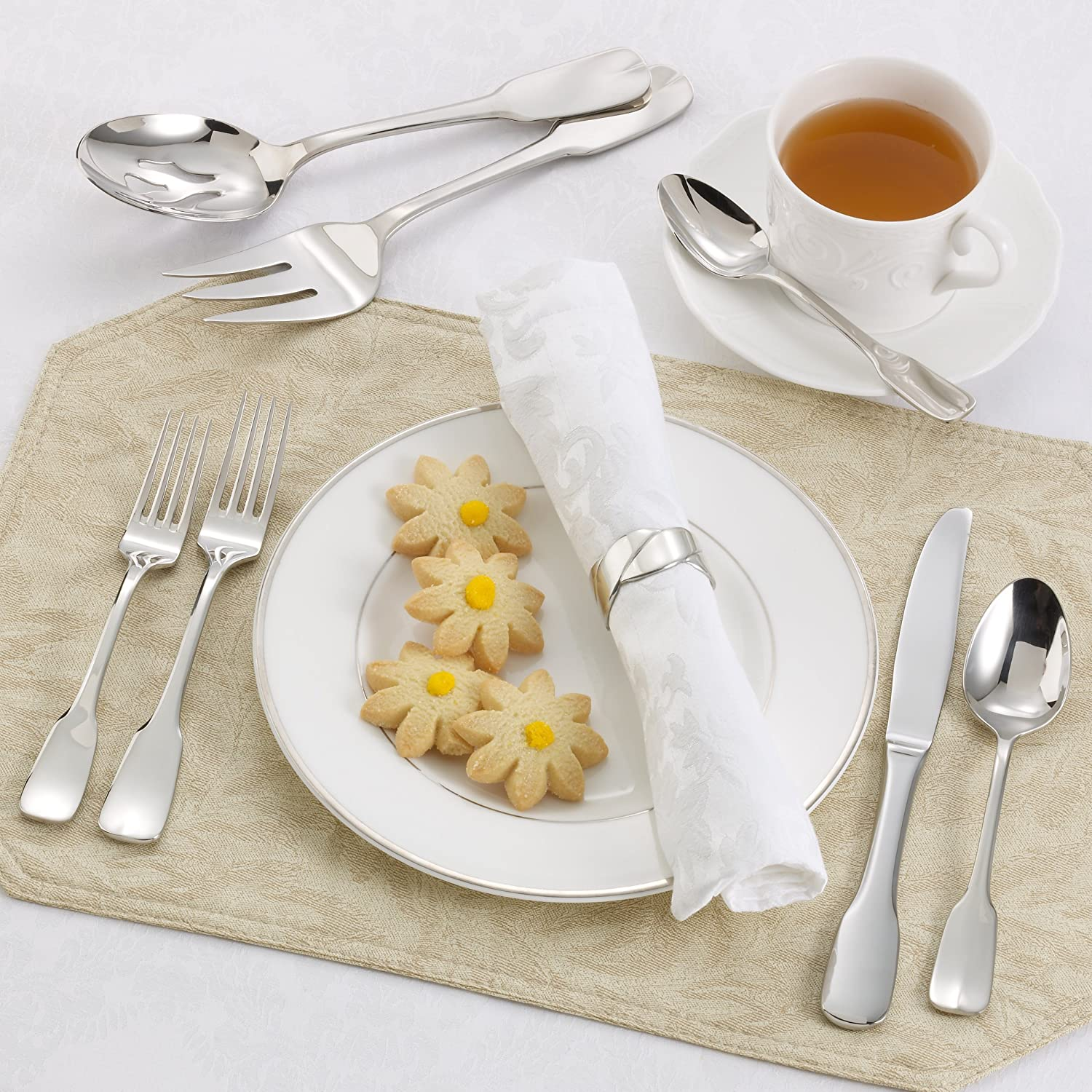 Service for 1 15035-4 Ginkgo International Alsace 5-Piece Stainless Steel Serving Place Setting