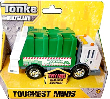 Amazon Com Tonka Toughest Minis Recycling Garbage Truck Toys Games