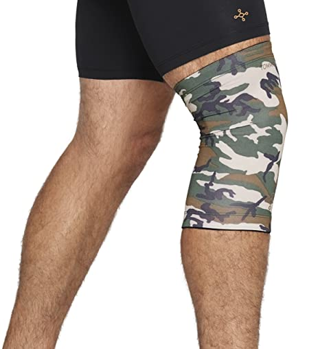 41b12463a4 Tommie Copper Mens Men's camo contoured knee sleeve, Green/Camouflage, Small