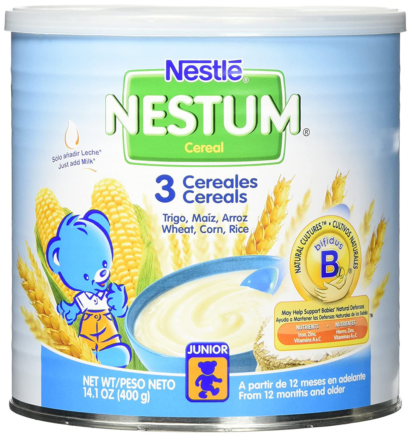 Amazon.com: Gerber Baby Cereal Nestle Nestum 3 Cereals, 14.1 Ounce: Prime Pantry