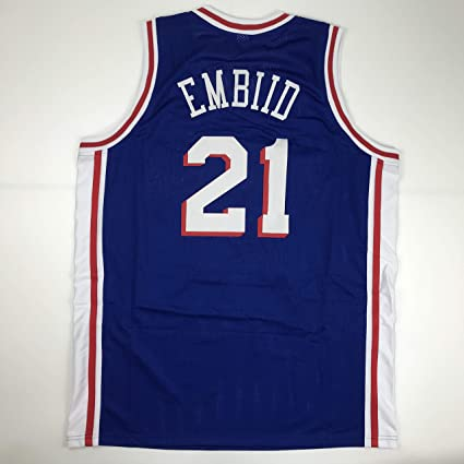 30cb816f36aa Unsigned Joel Embiid Philadelphia Blue Custom Stitched Basketball Jersey  Size Men s XL New No Brands