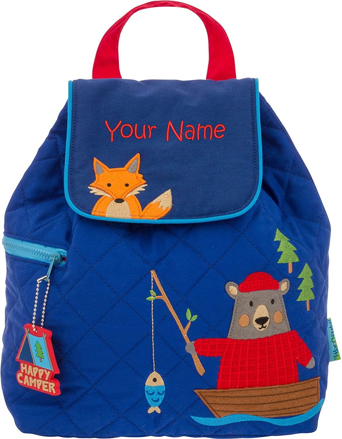 e853fb5bc766 Personalized Stephen Joseph Bear and Fox Quilted Backpack with Embroidered  Name