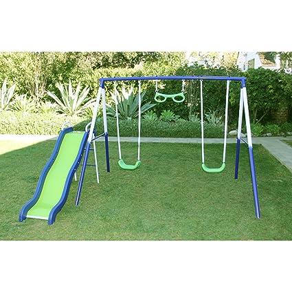 Amazon Com Swing N Slide Glider Metal Playset For Kids Swing Set