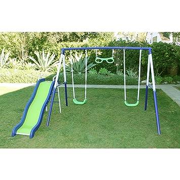 Swing N Slide Glider Metal Playset For Kids Swing Set Playground Swingset  Outdoor Playsets Swings Play