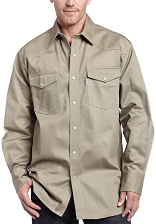 dc8ead36652 Carhartt Men s Ironwood Twill Work Shirt Snap Front Relaxed Fit S209 at  Amazon Men s Clothing store  Button Down Shirts