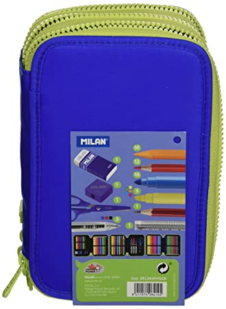Milan 81364FH5GR - Estuche 3 pisos, color azul: Amazon.es ...
