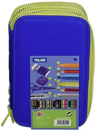 Milan 81364FH5GR - Estuche 3 pisos, color azul: Amazon.es ...