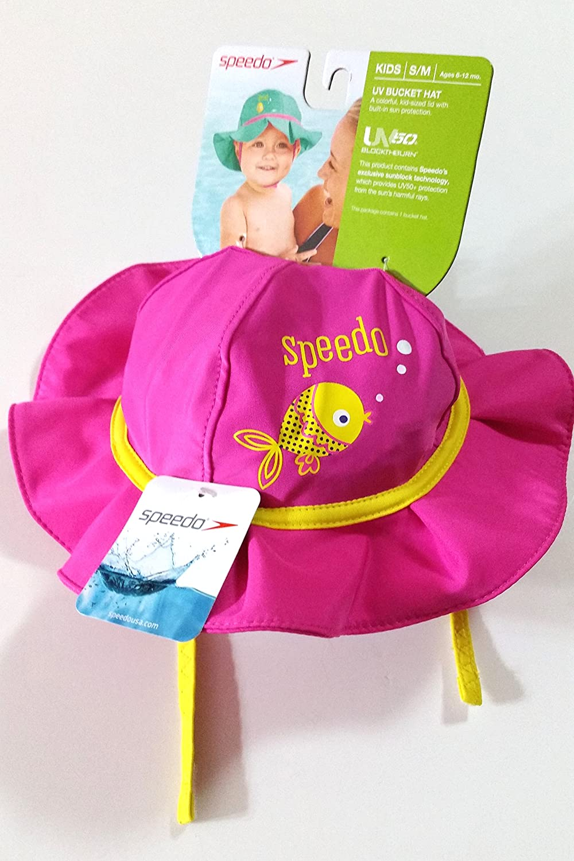 ... Amazon.com Speedo UV50+ Sun Protection Bucket Hat Kids Size SM Ages  6-12 ... ee05c651e71c