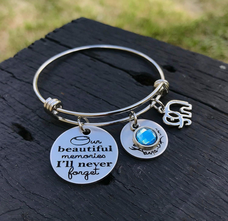 Alzheimer Memorial Bracelet Dementia Awareness Jewelry Remembrance Gift