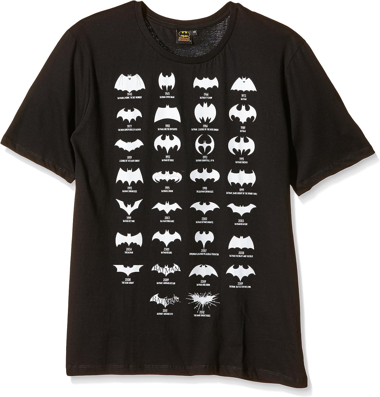 Batman All Logo - Camiseta para Hombre, Color Negro, Talla S/S: Amazon.es: Juguetes y juegos