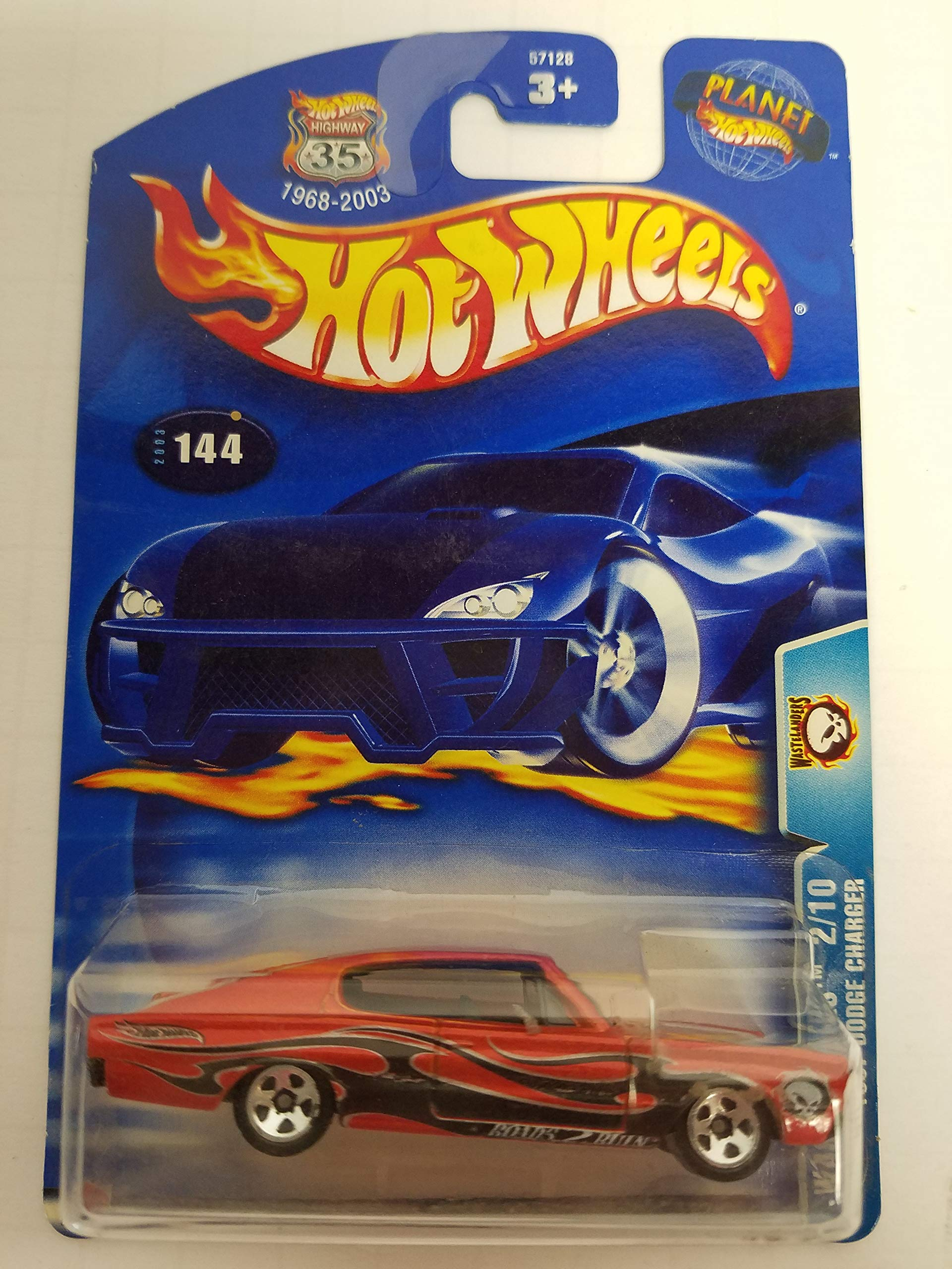 1967 Dodge Charger Wastelanders 2/10 2003 Hot Wheels diecast car No. 144