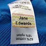 Funky Colour Just Stick Name Tags/Labels for Kids - No Sew or Iron for School (60)
