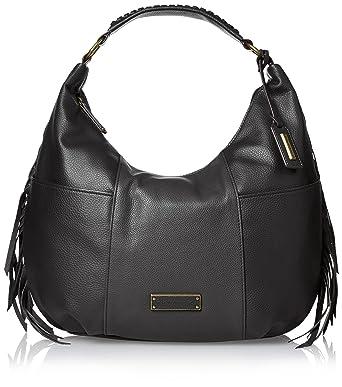 Amazon.com: Tignanello Tribecca Fringe Hobo Shoulder Bag, Black ...