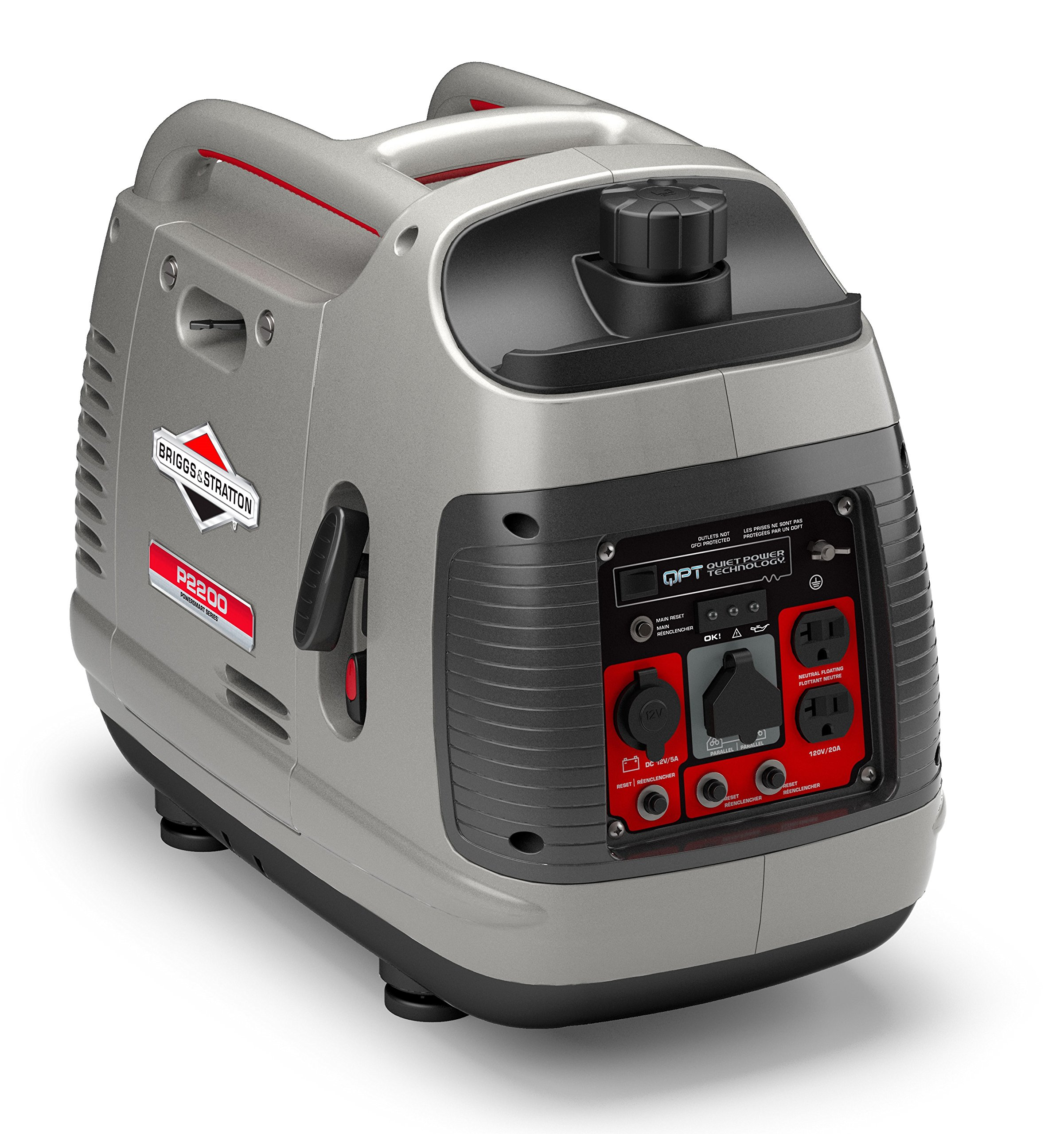 Briggs & Stratton P2200 Power Smart Series Inverter Generator With Quiet Power Technology And Parallel