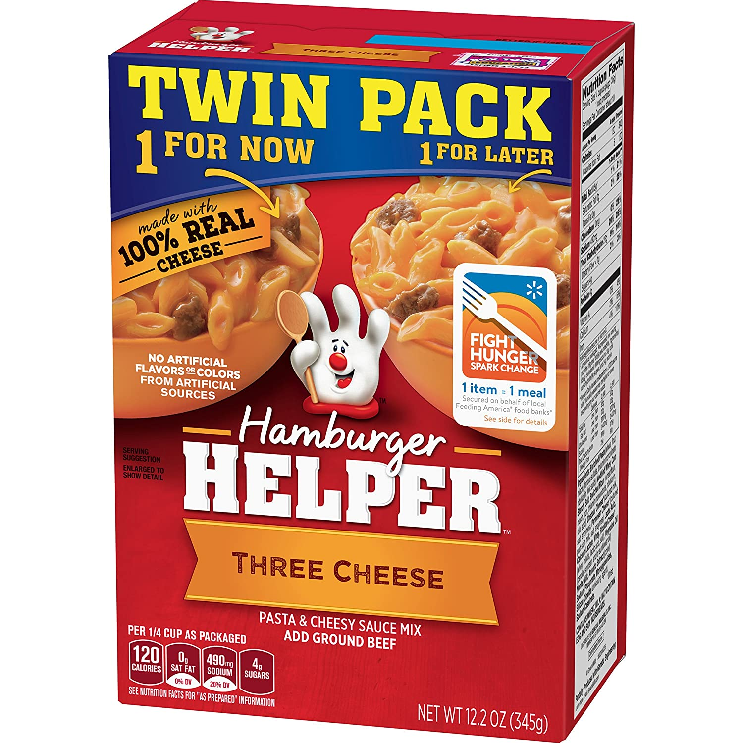 Betty Crocker Hamburger Helper Three Cheese Flavor 12 2 Oz Twin Pack Grocery Gourmet Food