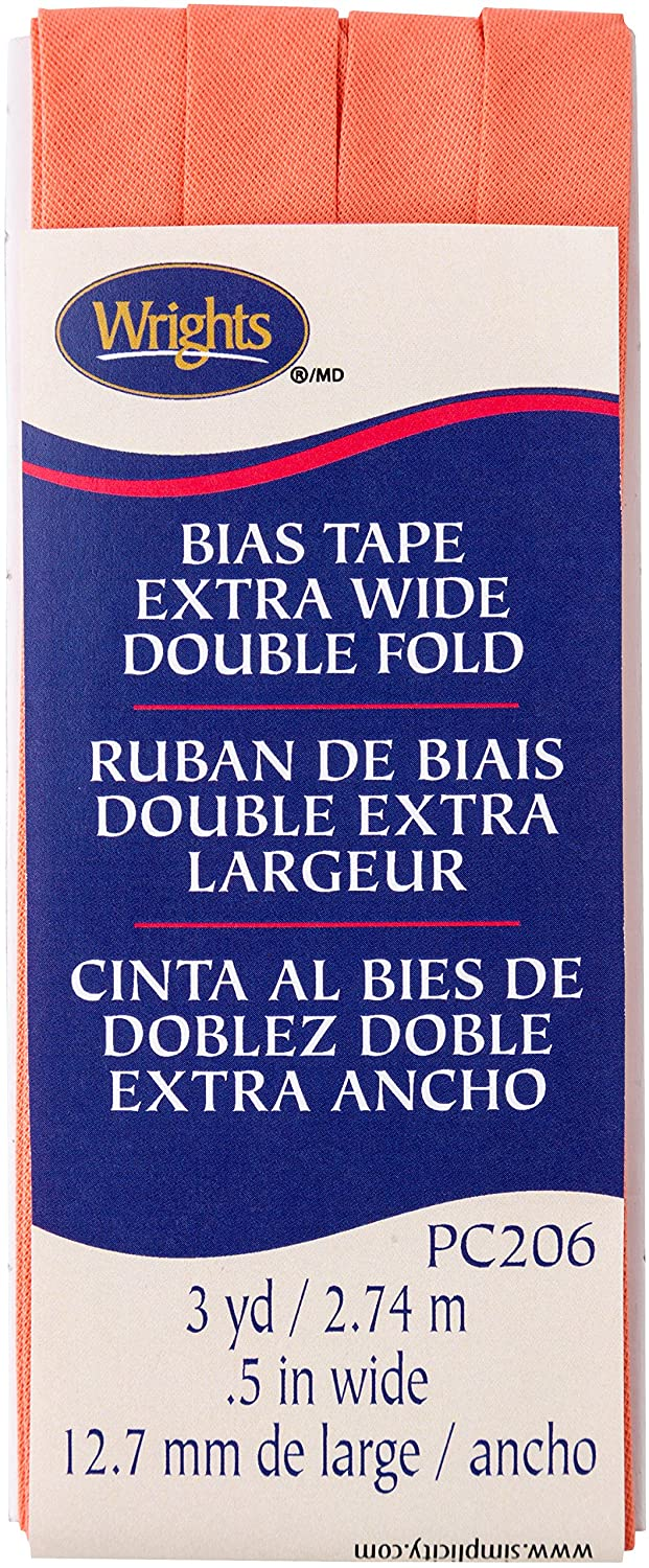 Wright Products Wrights Coral Double Fold Bias Tape 1/2 X 3yd 117206245