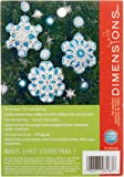 Dimensions Flurries Ornaments Felt Applique Kit, 4-Inch x 4-Inch, Set of 3