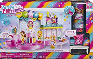 Party Popteenies - Poptastic Party Playset with Confetti, Exclusive Collectible Mini Doll and Accessories, for Ages 4 and Up, Standard