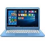 """HP Stream 14-ax004nl Notebook, Display da 14"""", Processore Intel N3060, 1.6 GHz, eMMC da 32 MB 4 GB di RAM, Intel HD 400, Windows 10 Home con Office 365 Personal 1 anno incluso, Azzurro"""