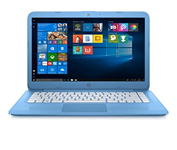 computer portatile hp azzurro  HP Stream 14-ax004nl Notebook, Display da 14