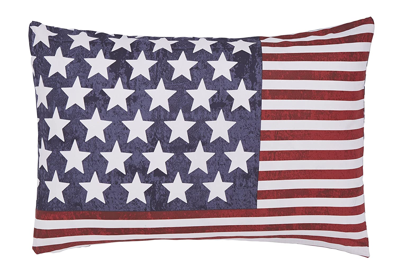 Catherine Lansfield New York Stars and Stripes Filled Cushion Turner Bianca BDB3-7867-WCU304-Multi