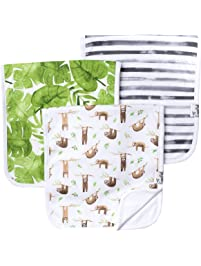"""Copper Pearl Baby Burp Cloth Large 21''x10'' Size Premium Absorbent Triple Layer 3 Pack Gift Set""""Noah"""" by Copper Pearl"""