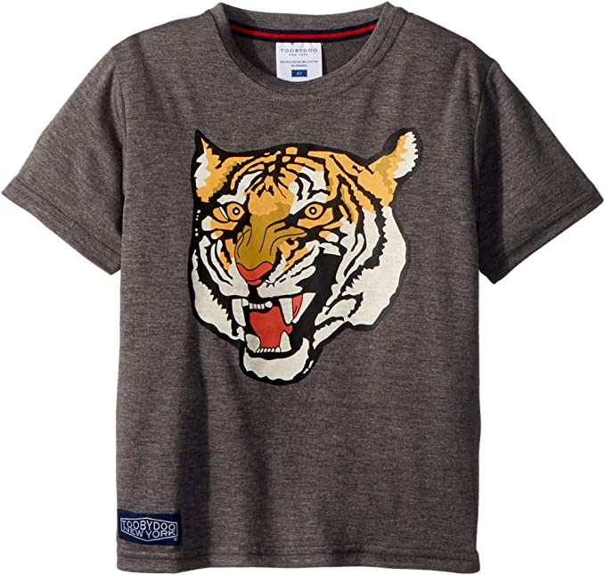 a8c040701 Amazon.com: Toobydoo Baby Boy's Roar! Grey Tiger Tee (Toddler/Little  Kids/Big Kids) Grey 4T: Clothing