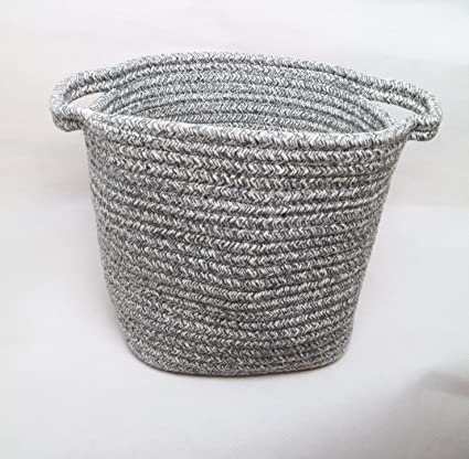 LINLIN SUN Cotton Rope Square Storage Baskets As Bins Box Organizer  Containers For Living Room