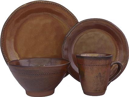 Sango 16 Piece Cyprus Dinnerware Set Sienna  sc 1 st  Amazon.com & Amazon.com | Sango 16 Piece Cyprus Dinnerware Set Sienna ...