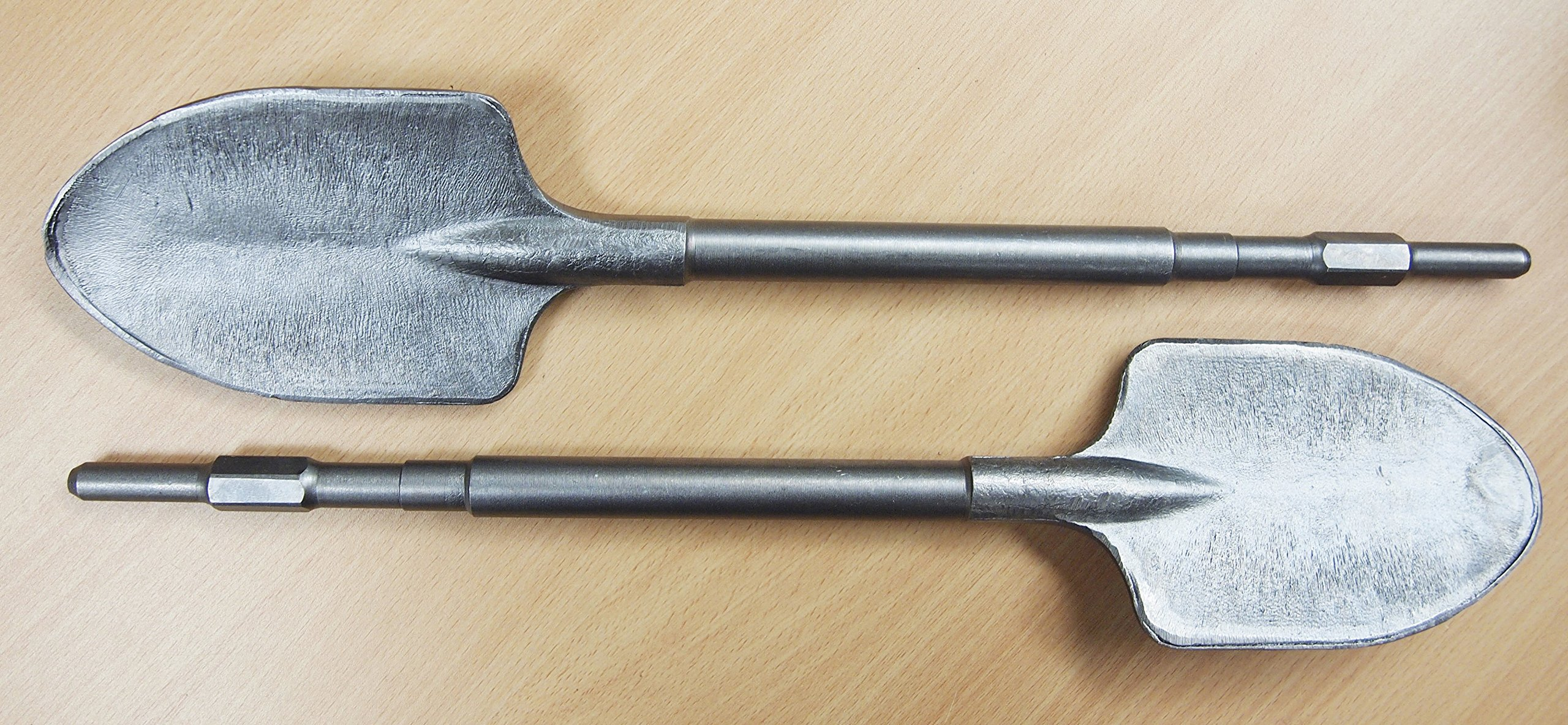 2PC Clay Spade Shovel 4-1/4'' x 19-1/2'' Hex 17mm for Makita HM0810 HR3500
